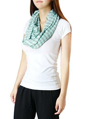 Oblong Pack - Fandsway Womens Fashion Infinity Oblong Include Special Pack Scarf (PASTELE BLUE/GRAY-AD3078-14)