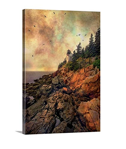 Nautical Wall Decor, Bass Harbor Head Lighthouse, Maine Art, Framed or Unframed Print or Canvas