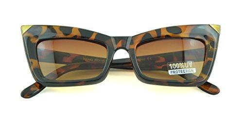 Belle Donne - Womens Fashion Kitten Retro Cat Eye Sunglasses - Tortoise Gold - Sunglasses Kitten In