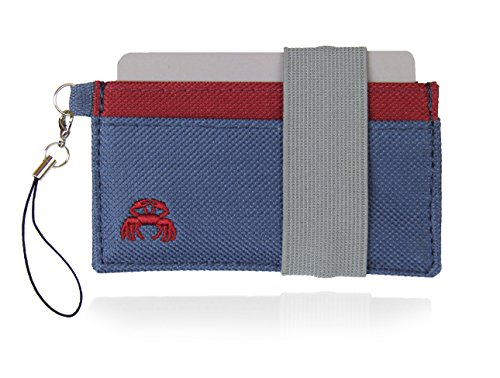 Crabby Wallet - Thin Minimalist Front Pocket Wallet - C3 Canvas Wallet,Beaver,One Size