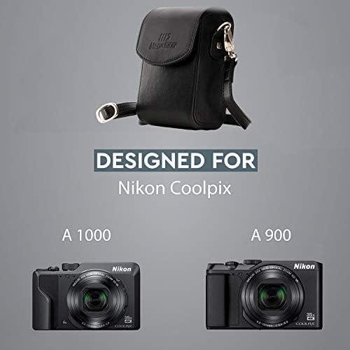Megagear Mg882 Nikon Coolpix A1000 A900 Leder Kamera
