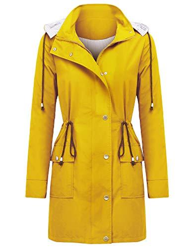 (UUANG Women's Raincoat Waterproof Packable Active Outdoor Rain Jacket)
