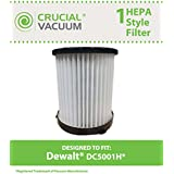 HEPA filter for Dewalt Vacuums; Compare to DeWalt Part No. DC5001H; Designed & Engineered by Crucial Vacuum
