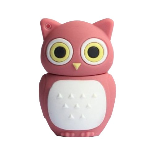 8GB Novelty Cute Baby Owl USB 2.0 Flash Drive Data Memory Stick Device - Pink and White