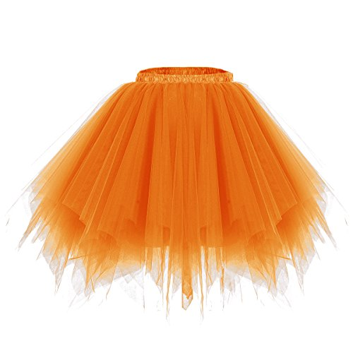 Bridesmay Ballet Tutu Jupon Jupe en Tulle dguisement annes 50 Rockabilly Orange