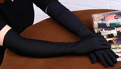 Fasker Womens Satin Evening Gloves 21'' Long Party Dance Elbow Length Opera Gloves Picture