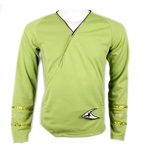 [Star Trek Green Wrap Command Uniform Costume Shirt (L)] (Star Trek Uniform Shirts)