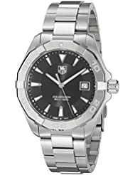 TAG Heuer Mens Aquaracer Quartz Stainless Steel Dress Watch, Color:Silver-Toned (Model: WAY1110.BA0928)
