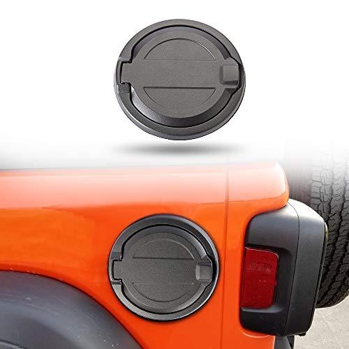 SUNPIE Jeep JL Fuel Filler Door | Jeep Wrangler Gas Cap Cover 2018 2019 JL & Unlimited (Black)
