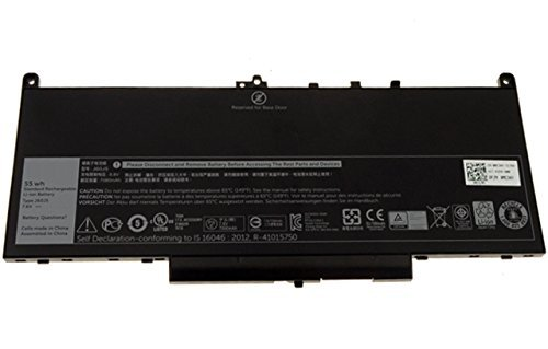 Brand New J60J5 battery for Latitude E7270 Latitude E7470 Primary Battery 7.6V 55Whr 4-Cell MC34Y 242WD by GreenTechLLC