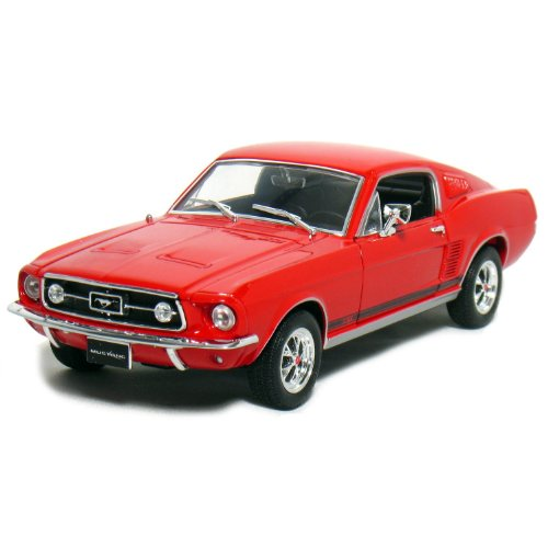 Welly 1/24 1967 Ford Mustang GT: Red -  22522crm