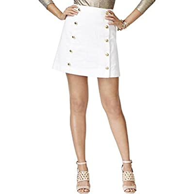 MICHAEL Michael Kors Womens Twill Embellished Mini Skirt