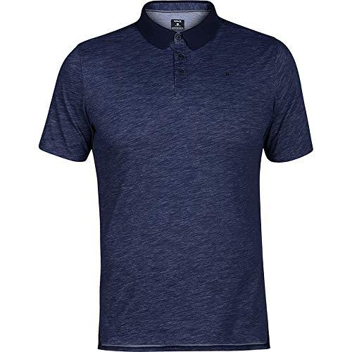 (Hurley Men's Nike Dri-Fit Short Sleeve Lagos Polo, Blue,)