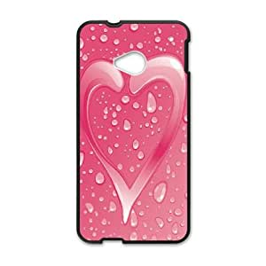 Love Pink HTC One M7 Cell Phone Case Black Ghdvn