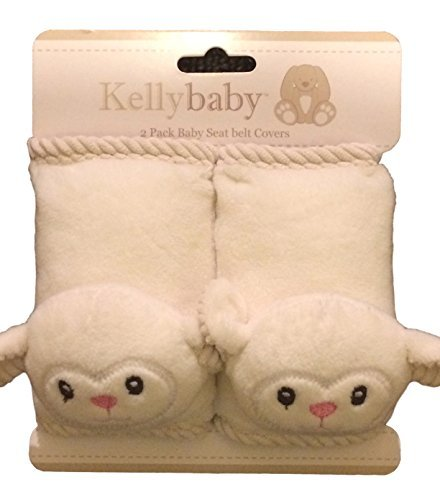 Kellybaby Lamb infant seat belt carseat strap covers for travel and comfort, plus protection from strap burn in carseat and - Lamb Burns
