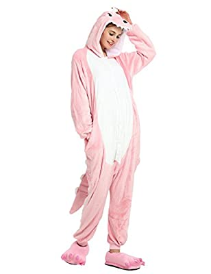 Adult Dinosaur Pajamas One Piece Christmas Costumes Animal Onesies Cosplay Jumpsuit