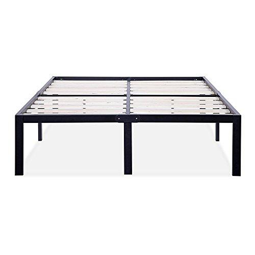 Olee Sleep 14 Inch Tall T-3000 Ultra Wood Slat Steel / Non-Slip Bed Frame 14BF06K
