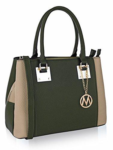 Capri Satchel Shoulder Handbag by Mia K. Farrow (Mia Womens Capri)
