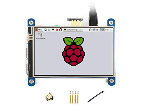 Waveshare 4inch Resistive Touch Screen IPS LCD (Type H) for Raspberry Pi 480x800 Hardware Resolution with HDMI Interface Resistive Touch -