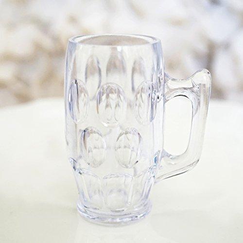Mini Clear Beer Stein Mugs Shot Glasses - 2.25