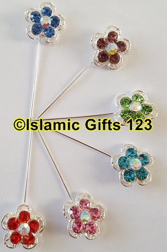 Hijab Pins--10 MIX Style,Scarf Pins-Islamic dress pins,Hijab Stick Pins Assortment,Abaya Pins-------ISLAMIC GIFTS 123-Dress pins- ()