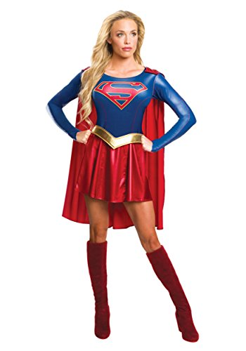 Tv Show Characters For Halloween (Rubie's Women's Supergirl Tv Show Costume Dress, As Shown,)