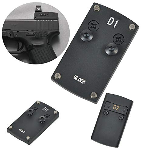 Tebul Glock Sight Mount - Glock 17 19 22 23 26 27 34 35 37 41 Pistol Rear Sight Mounting Plate Base for Mini Red Dot Sight Fit Vortex Venom Viper Burris Sightmark Vortex Micro Reflex Dot Sight