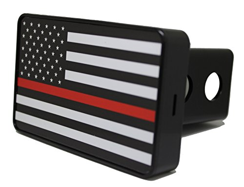 Bright Hitch - Thin Red Line American Flag Hitch (Hitch Cover Lens)