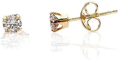 BASIC-pendientes brillantes y diamantes-Peso: 0,24 carat-Color: ligero toque de pureza: P2-champán con cochecitos de oro amarillo carat-18-perles.com www.diamants