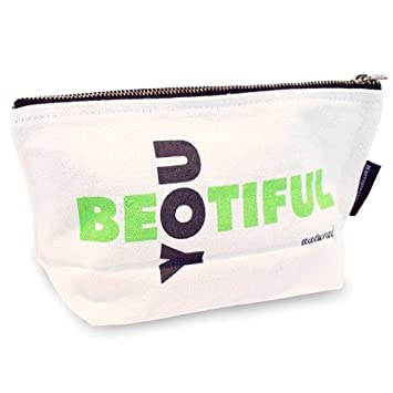 8b4714437d59 Makeup Bag; Extra Large Washable Canvas Cosmetics Pouch With Zipper ...