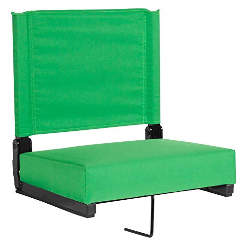 Flash Furniture Grandstand Comfort Seats by Flash with Ultra-Padded Seat in Bright Green, XU-STA-BGR-GG (Park Store Furniture)