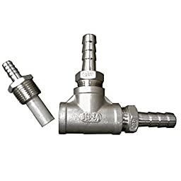 HomeBrewStuff Home Beer Brewing Stainless Steel Inline Aeration/Oxygenation Diffusion Stone Assembly for Kettle, Wort Chiller, or Pump