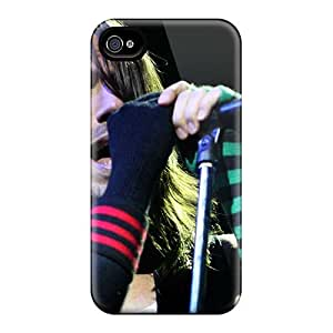 Iphone 4/4s TLW14566RiJV Unique Design High Resolution Red Hot Chili Peppers Skin Anti-Scratch Cell-phone Hard Cover -KaraPerron