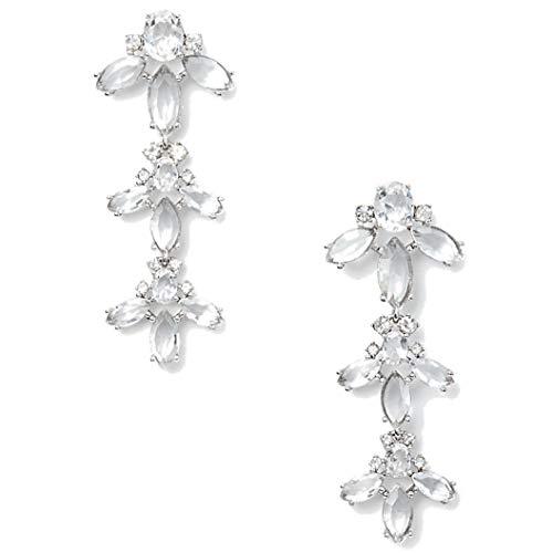 Kate Spade New York Women's Ice Queen Chandelier Earrings, Silver/Crystal