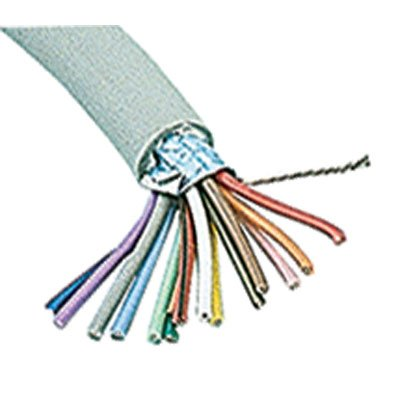 Jameco Valuepro SC25-100VP Multi-Conductor Cable, Shielded, 25 Conductor, 24 AWG, 100' L x 9 mm Dia, Gray by JAMECO VALUEPRO