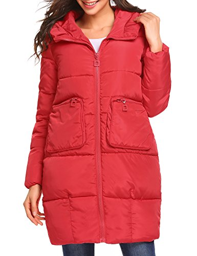 Soteer Women's Chevron-Quilted Packable Down Coat