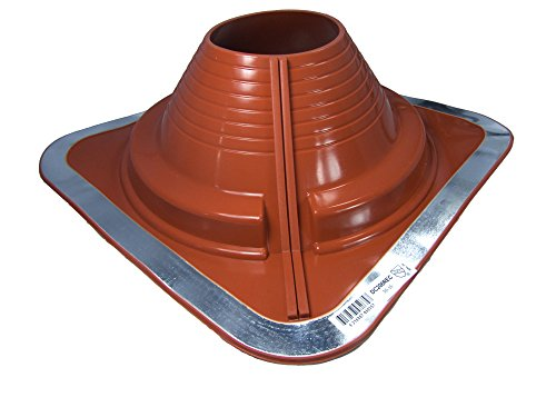 Base High 6 (#6 (DC206REC) DEKTITE Square Base Combo Pipe Flashing Boot: RED High Temp Silicone Square Base Flexible Pipe Flashing Dektite)