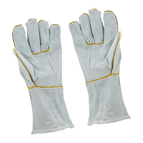 joyMerit 耐火性ウェアラブル溶接機のペアガントレット作業用手袋溶接ガントレット