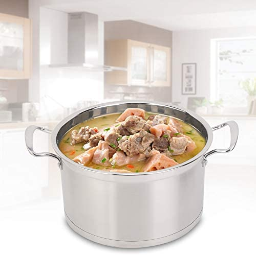 41SK7e2CdmL. AC Zerone Steamer Pot,26CM Stainless Steel Double Layer Food Steamer Pot Stockpot Cookware Household Cooking Tool    Specification: Condition: 100% Brand New Product material: 201 stainless steel Product specifications: 26cm Pot bottom type: composite bottom Product Type: Steamer, stockpot Product size: about 26 * 26 * 22.5cm / 10.2 * 10.2 * 8.9in Product features: steamed, boiled, braised, etc.
