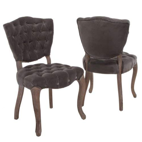 (Best Selling Lane Tufted Fabric Dining Chair, Charcoal, Set of 2)