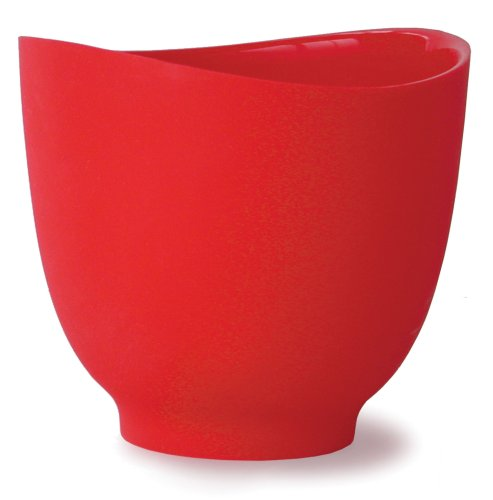Purchase iSi Basics Flexible Silicone Mixing Bowl, One Quart, Red deal