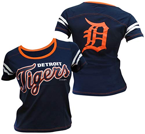 5th & Ocean Detroit Tigers Women's Baby Jersey S/S Scoop Neck X-Small
