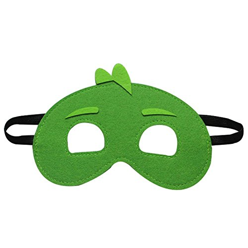 Face mask Shield Veil Guard Screen Domino False Front Child mask Eye Patch cat Kid mask Role Playing Cyan by PromMask