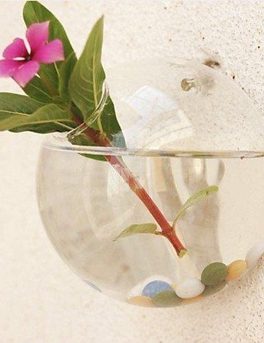 """Ramo de la moda,flores artificiales, Botella de vidrio florero colgando 3.5 """""""