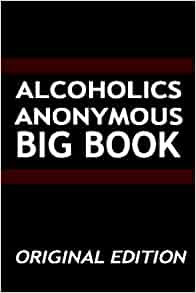 Alcoholics anonymous big book original edition aa services flip to back flip to front fandeluxe