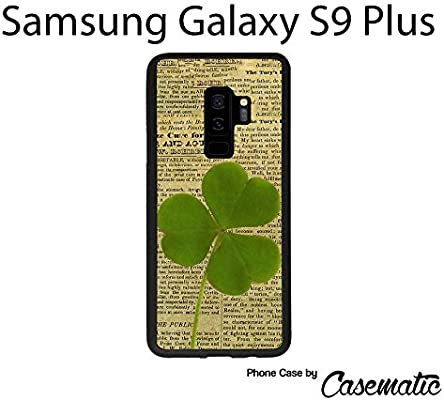 Amazon.com: Samsung S9 Plus Case Vintage Shamrock Newspaper Rubber Black Protective Phone Case for Samsung Galaxy S9 Plus by Casematic: Cell Phones & ...