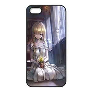 Blonde Girl In The Library Anime0 iPhone5s Cell Phone Case Black Customized Toy pxf005_9669836