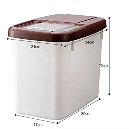 Nikgic Rice Storage Box Rice Cereal Dispenser Container Sealed Tank Rice  Pasta Container Rice Bin