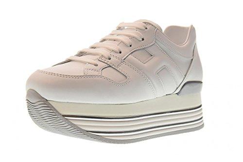 Hogan Schuhe Frau Niedrige Turnschuhe mit Keil HXW3460T548KLAB001 H346 Weiß