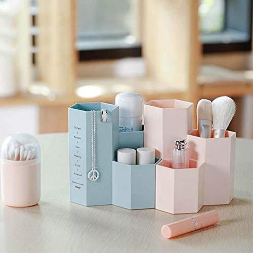 Jakieroye Porta Pinceles de Maquillaje Portal/ápices Organizador de brochas de Maquillaje Organizador de cosm/éticos para el Lavabo o tocador de Maquillaje